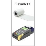 Bobine papier thermique 57x40x12 pour TPE, CB - Longueur: ~18 mètres - Sans BPA