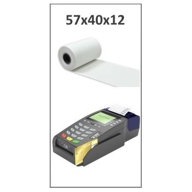 Bobine papier thermique 57x40x12 pour TPE, CB - Longueur: ~18 mètres