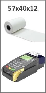 Bobine papier thermique 57x40x12 pour TPE, CB - Longueur: ~18 mètres - Sans BPABobine 57x40x12 pour TPE, CB papier thermique Lon